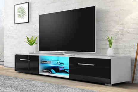 Bells Bay - Glossy TV cabinet stand - Save 73%