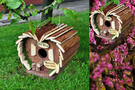 Direct 2 public - Kingfisher wooden bird hotel Save 83%