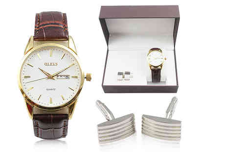 Charles Oscar - Watch and cufflinks gift set - Save 0%