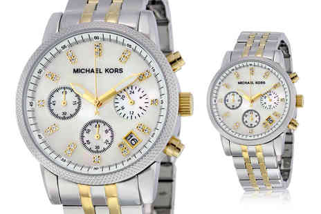Cheap Designer Watches - Michael Kors MK5057 ladies Ritz two tone watch - Save 59%