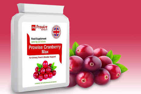 Prowise - A three month supply of cranberry max supplements - Save 0%
