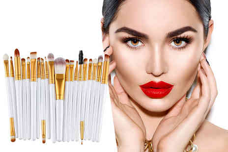Forever Cosmetics - 20 piece eye make up brush set - Save 87%