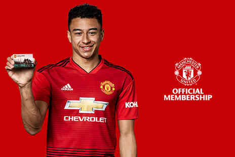 Manchester United Football Club - Full official Manchester United childs or adult membership - Save 25%