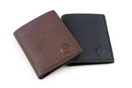 Deals Direct - Men & Co PU leather wallet choose from two sizes and colours - Save 0%