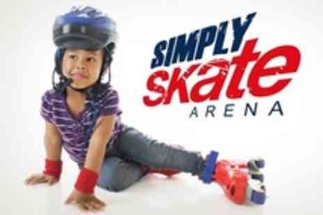 Simply Skate Arena - Childrens Activity Session Skate & Bake or Skate & Make For Four - Save 54%