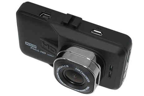 Maxwe - 3.0 Inch IPS Wide Angle Car Dash Cam With Optional 16GB & SD Card - Save 81%