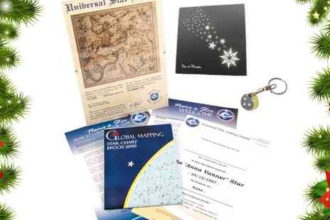Universal Star Listing - Name a star Christmas gift pack - Save 40%