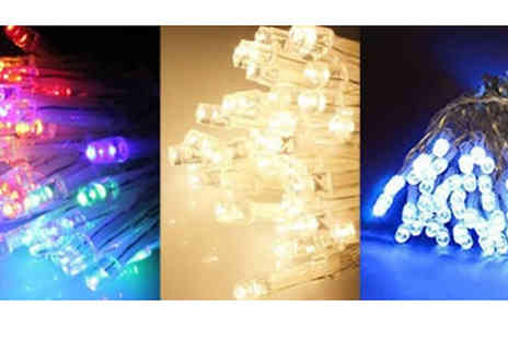 Home Season - Battery Operated Festive Fairy Lights Choose 50, 100 or 200 - Save 75%