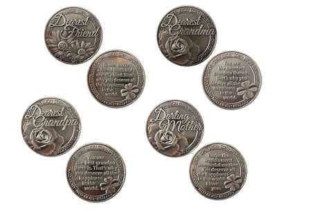 Direct 2 public - Engraved lucky coins choose from 14 designs - Save 80%