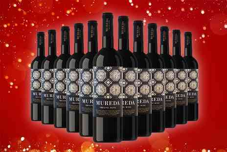 Q Regalo - Pack of 12 Mureda ecological Spanish wines - Save 67%