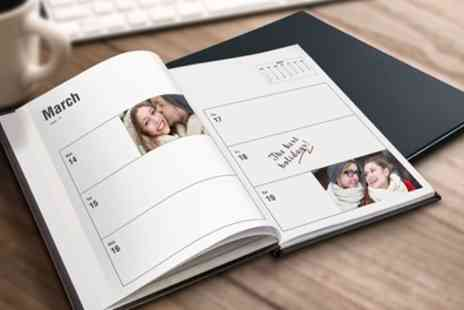 Printerpix - Up to Three Personalised A5 Leather Diaries - Save 32%