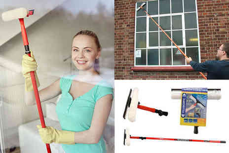 Direct 2 public - 3.5m telescopic window cleaning kit - Save 71%