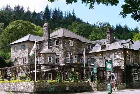 Swallow Falls Hotel - Two night Snowdonia National Park stay for two people with breakfast and cream tea - Save 0%