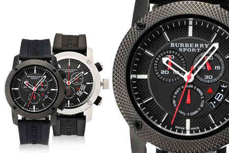 Demand Tic - Mens Burberry luxury sport style watch Choose from four designs - Save 72%