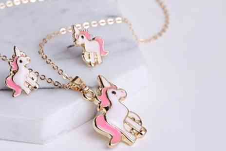 Groupon Goods Global GmbH - One or Two Unicorn Necklace and Earrings Sets - Save 0%