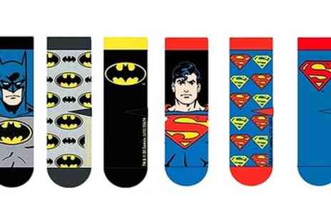Groupon Goods Global GmbH - Three or Six Pairs of DC Comics Mens Cotton Socks - Save 0%