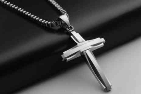 Groupon Goods Global GmbH - Marcus Emporium Necklace Pendant Cross for Men in Choice of Colour - Save 0%