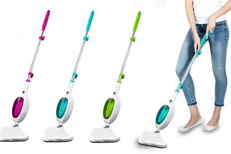 Groupon Goods Global GmbH - Daniel James 1300W Steam Mop with Optional Two Compatible Microfibre Cloths - Save 56%