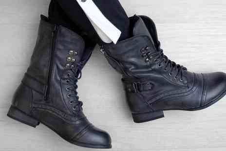 Groupon Goods Global GmbH - Military Style Ankle Boots - Save 0%