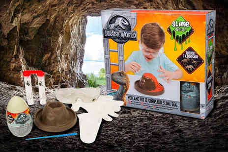 Direct 2 public - Jurassic World volcano & dinosaur slime activity set - Save 78%