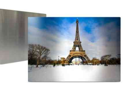Printerpix - One or Two Personalised Metal Prints in Choice of Size - Save 52%