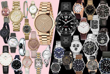 Brand Logic - Mystery watch deal for him or her from Tag Heuer, Gucci, Hugo Boss, Daniel Wellington, Armani, Calvin Klein, Spirit, Kahuna & More - Save 0%