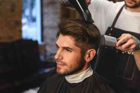 Browns Barber Shop And Tattoos - Mens Haircut with Optional Styling and Beard Trim or Shave - Save 22%