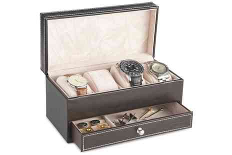 Groupon Goods Global GmbH - VonHaus Four Watch and Cufflink Display Box with Drawer - Save 0%