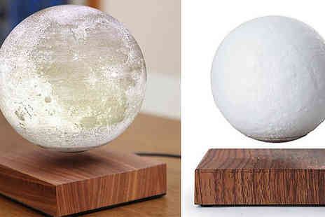 Buy Something - Magnetic Levitating 3D Moon LED Night Light - Save 50%