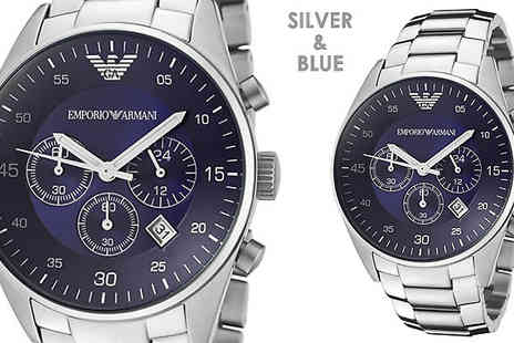 AW Watches - Emporio Armani Mens Chronograph Watch in 2 Designs - Save 72%