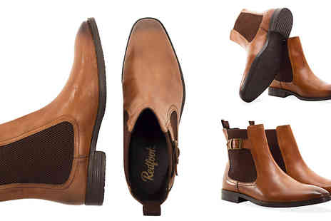 Redfoot - Redfoot Mens Leather Buckle Chelsea Boot in 2 Colours - Save 81%