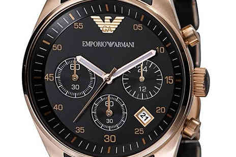 AW Watches - Emporio Armani AR5905 Black Chronograph Mens Watch - Save 73%