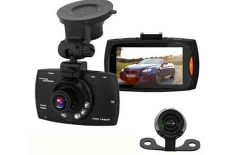Groupon Goods Global GmbH - Apachie G30 2.7 Inch Screen Full HD Dual Front and Rear Dash Cam with Optional 16GB Memory Card - Save 63%