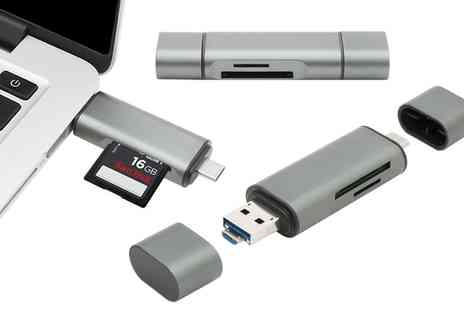 Groupon Goods Global GmbH - One or Two Micro-USB Adapters with Optional SD Card - Save 67%