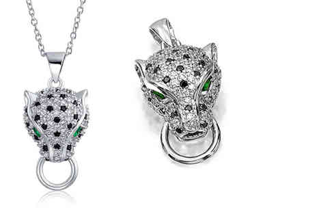 Taylors Jewellery - Panther pendant with emerald green eyes - Save 85%