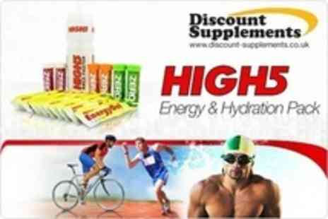 Discount Supplements - Double Packs of High 5 Energy and Hydration - Save 58%