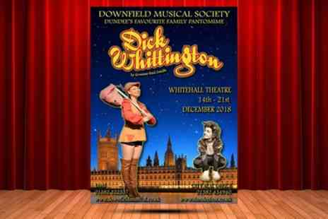 Downfield Musical Society - Two Balcony or Stall Tickets to Dick Whittington on 14, 18 or 19 December 2018 - Save 50%