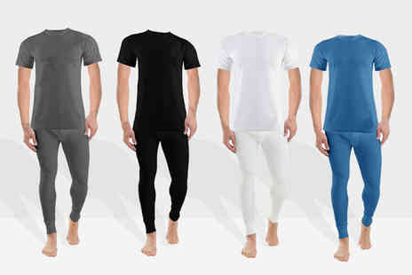 Groundlevel - Thermal long john and T shirt set choose from four colours - Save 80%