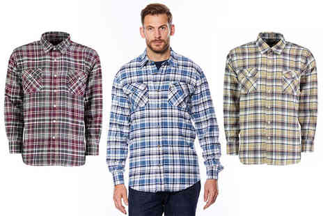 Chums - Smart casual long sleeved check shirt choose from three colours - Save 43%