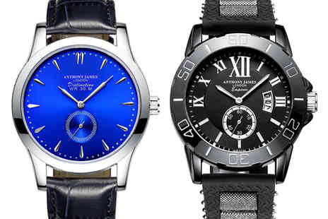 Anthony James - Luxury mens watch choose from four designs - Save 0%