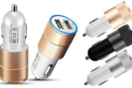 Groupon Goods Global GmbH - Up to Four FX Powabud Twin Socket Usb Car Chargers - Save 81%