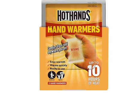 Home Season - Hot Hand Warmers Choose from 1, 2 or 5 Pairs - Save 94%