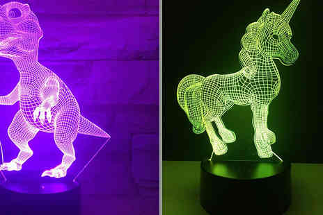 Good 2 Items - Usb Touch Led 3D Night Lamp Choose 2 Designs - Save 70%