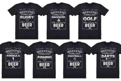Groupon Goods Global GmbH - Weekend Forecast Mens Cotton Tshirts - Save 0%