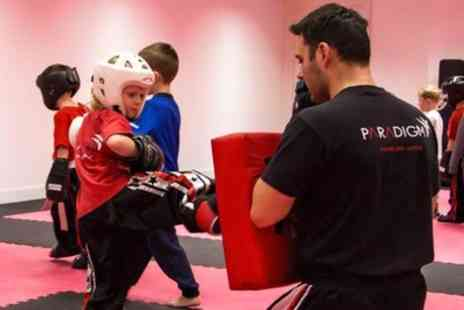 Paradigm Martial Arts Maghull - Three Kids Kickboxing Classes for One or Two - Save 0%