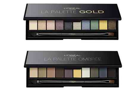 Groupon Goods Global GmbH - Two LOreal Paris La Palette Eyeshadow Palettes Ombree and Gold - Save 0%