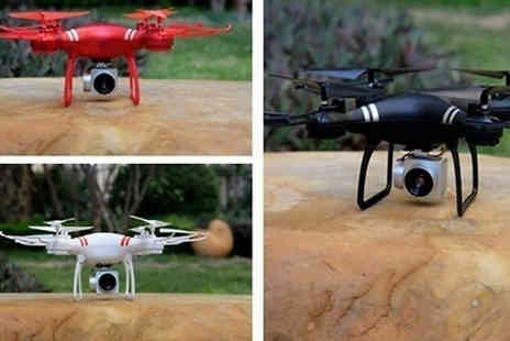 Yello Goods - RC Drone with 4K Wide Angle Camera Available in 4 Options And 3 Colours - Save 75%