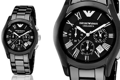 AW Watches - Mens Emporio Armani AR1400 Black Chronograph Watch - Save 78%