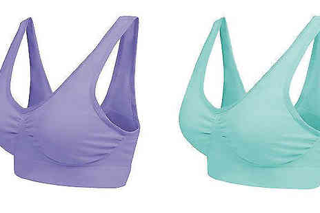Blu Apparel - Pack of 3 Seamless Comfort Bras Available in UK Sizes 8 To 20 - Save 57%