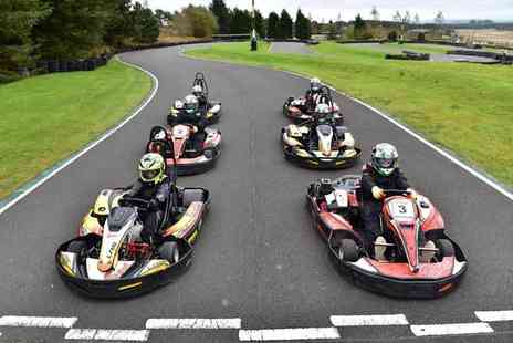 Knockhill Racing Circuit - 30 minute outdoor karting experience for two people with unlimited laps - Save 50%